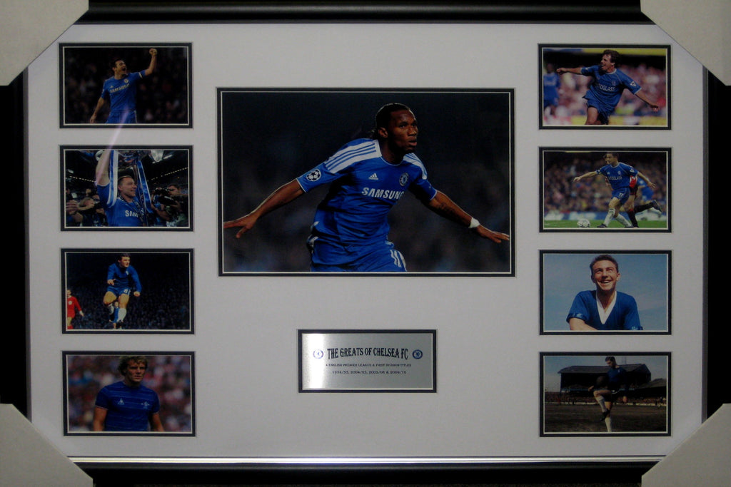 The Greats of Chelsea Football Club - Framed Collage