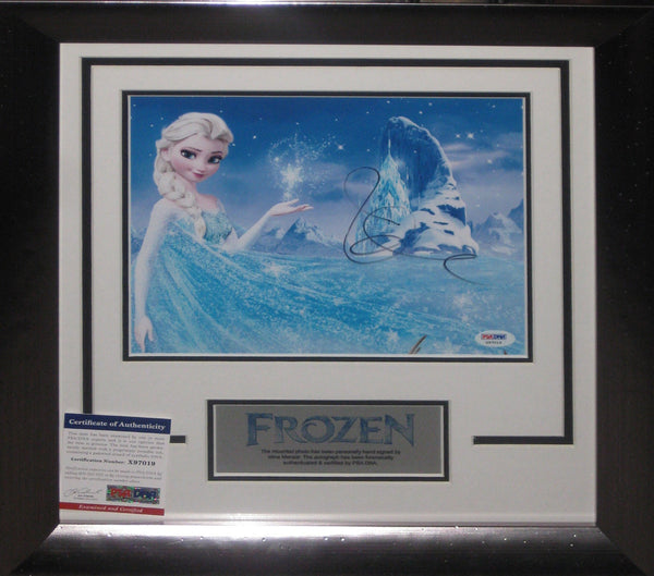 Frozen - Idina MENZEL SIGNED FRAMED Tribute - PSA DNA AUTHENTICATED X97019