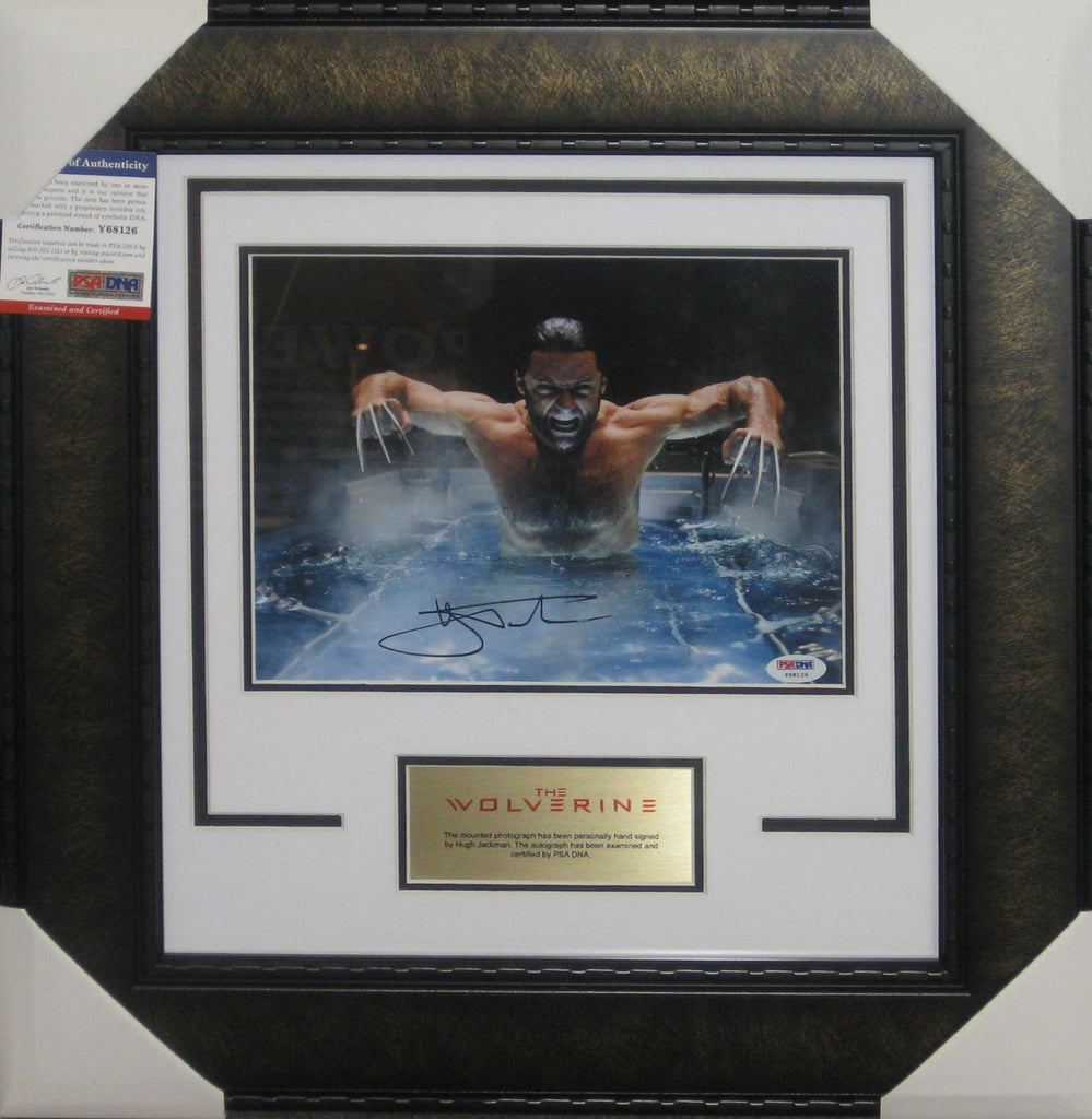 Hugh Jackman - THE WOLVERINE SIGNED & FRAMED 8 X 10 INCH PHOTOGRAPH PSA DNA AUTHENTICATED Y68126