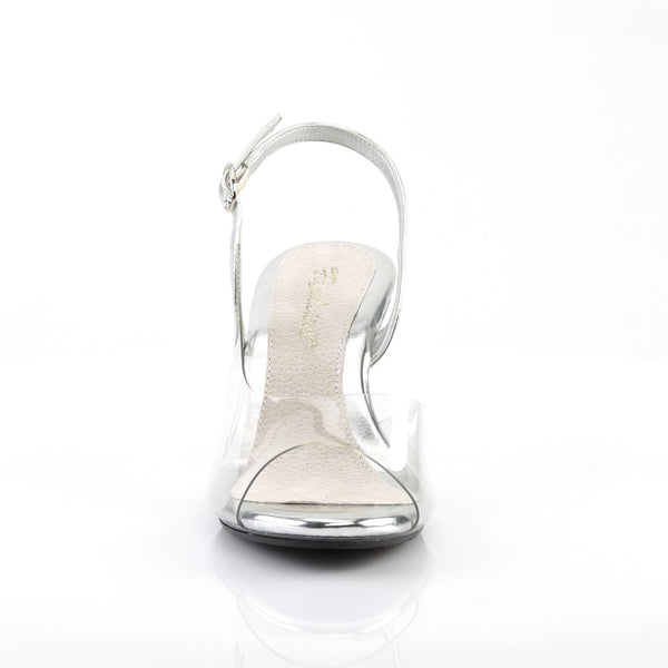 Fabulicious Belle-350, 3-inch IFBB Approved Fitness Competition Heels - Clear - Pleaser Shoes