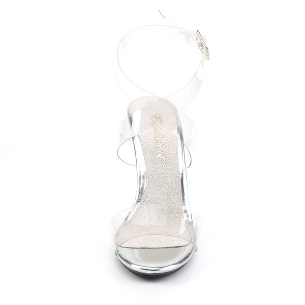 Fabulicious Caress-412, 4-inch Competition Shoes approved by IFBB - Clear - Pleaser Shoes