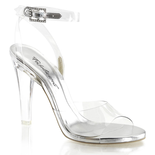 Fabulicious Clearly 406, 4-1/2 inch IFBB Clear Fitness Competition Shoes - Clear - Pleaser Shoes