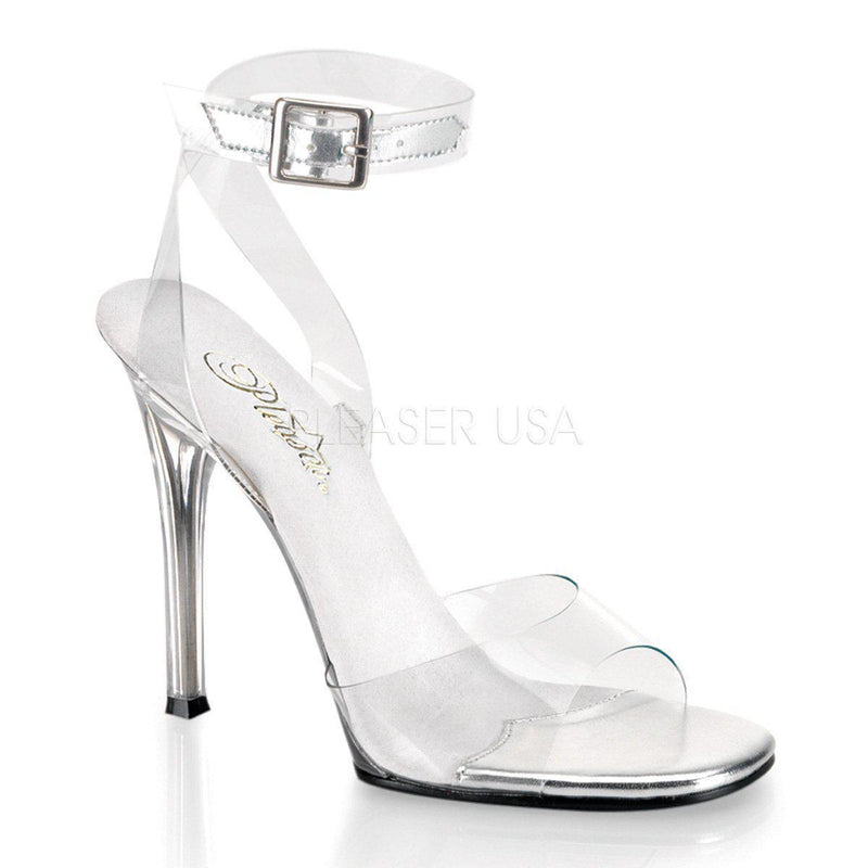 Fabulicious Gala-06, 4-1/2 inch Clear Heels for IFBB Fitness Competitions - Clear - Pleaser Shoes
