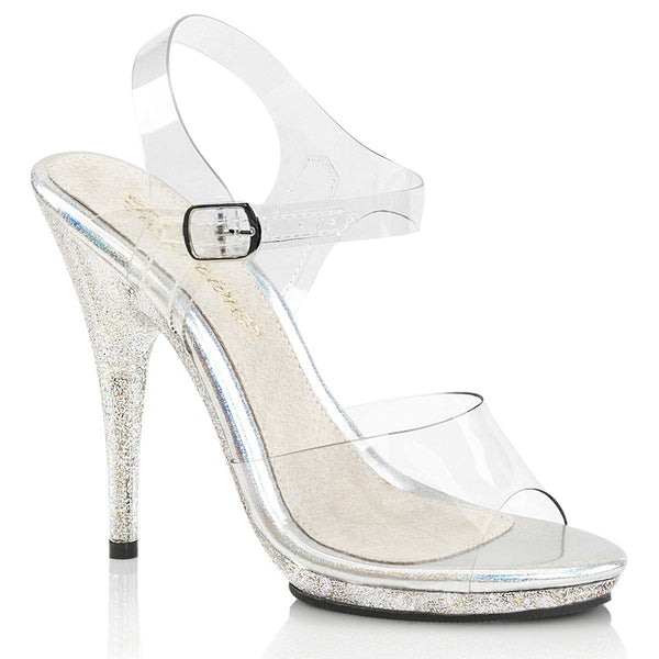 Fabulicious Poise-508-MG, 5-inch Shoes for Bikini Figure Competitions (not IFBB) - Clear - Pleaser Shoes
