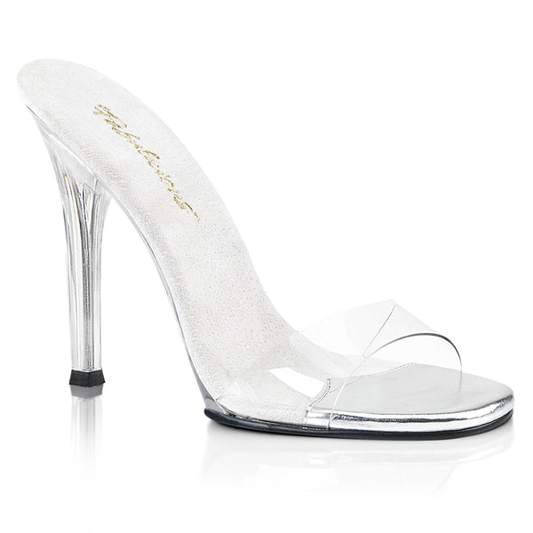 Fabulicious Gala-01-S, 4-1/2 inch IFBB Approved Figure Competition Shoes - Clear