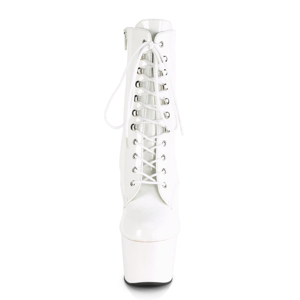 Pleaser Adore-1020, 7-inch Exotic Pole Dance Boots for Beginners - White - Pleaser Shoes