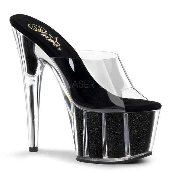 Pleaser Adore 701G, 7-inch Glittered Platform Heels - Pleaser Shoes