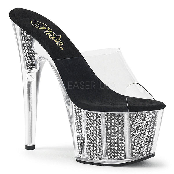 Pleaser Adore-701SRS, 7-inch Rhinestone High Heels - Pleaser Shoes