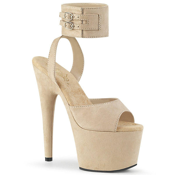 Pleaser Adore-791FS, 7-inch Faux Suede Ankle Strap Sandals - Pleaser Shoes
