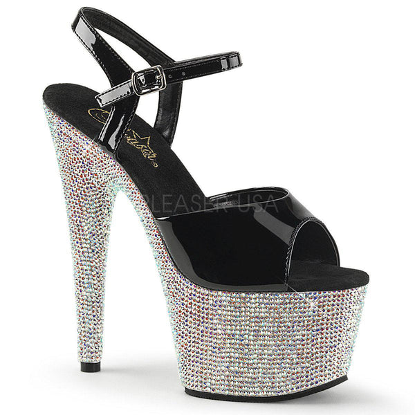 Pleaser Bejeweled-709DM, Rhinestone Bejeweled Pole Dance Heels - Pleaser Shoes