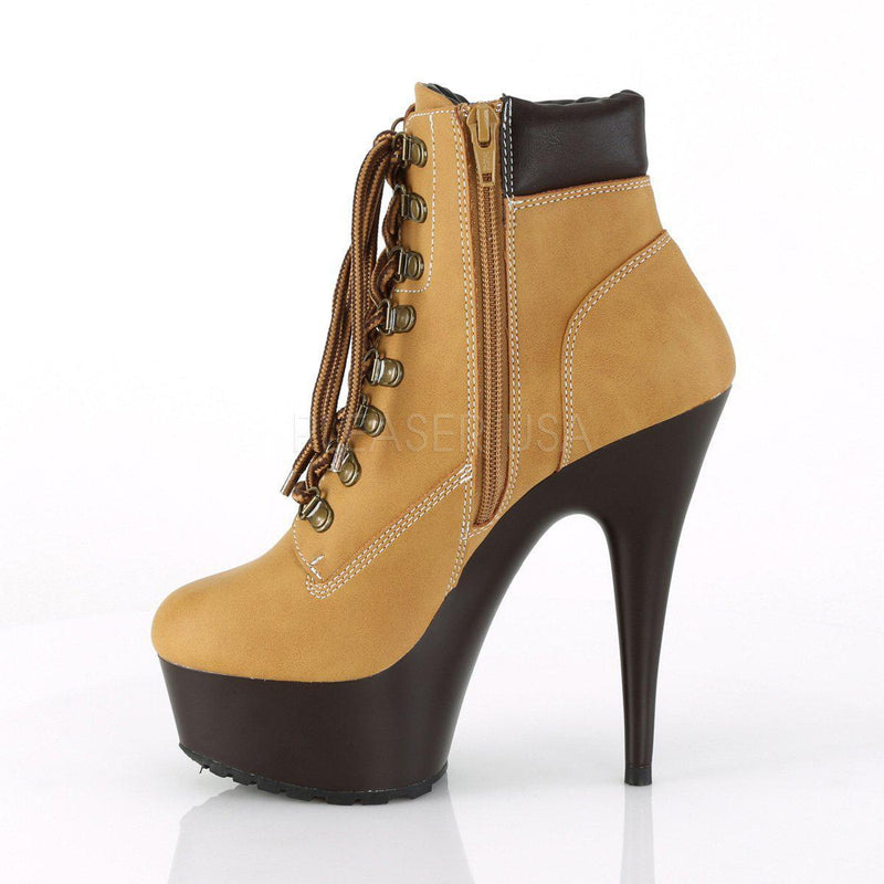 Pleaser Delight-600TL-02, Pleaser Timberland Style Booties - Pleaser Shoes