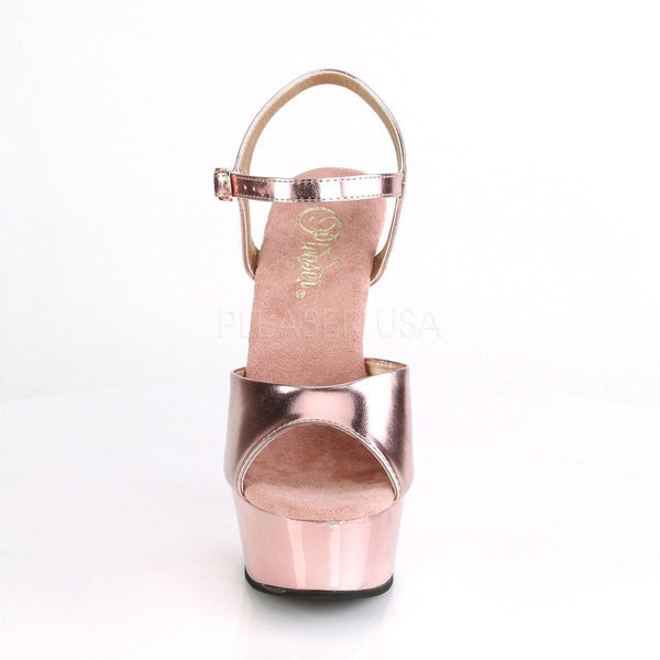 Pleaser Delight-609, Chrome Pole Dancing High Heel Sandals - Pleaser Shoes