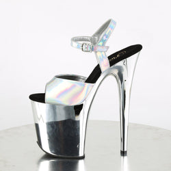 Pleaser Flamingo-809HG, High Holo Chrome Heels - Pleaser Shoes