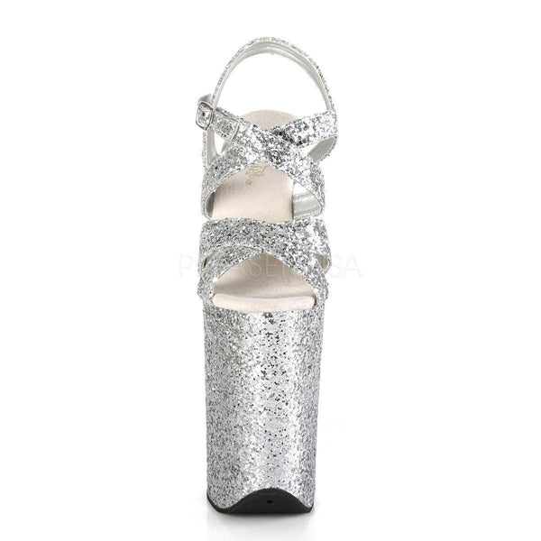 Pleaser Infinity-997LG, 9-inch Glitter Platform Pole Dance Heels - Pleaser Shoes