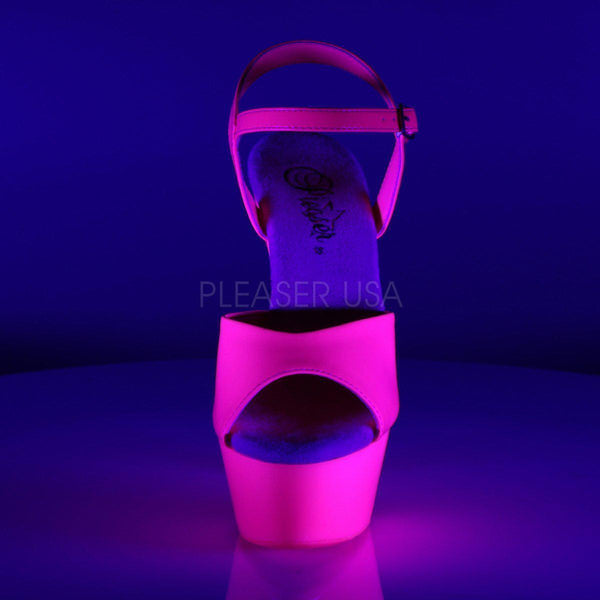 Pleaser Kiss-209UV, Neon Pink Pleaser Heels - Pleaser Shoes
