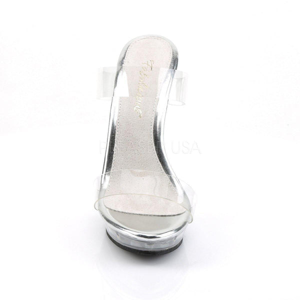Pleaser Lip-102-1, Clear Fitness Bikini Competition Shoes - Pleaser Shoes