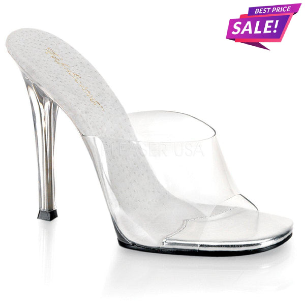 PLEASER SALE - Fabulicious Gala-01, 4 1/2-inch Clear Competition Heels - Size 36 - SAME DAY SHIPPING - Pleaser Shoes