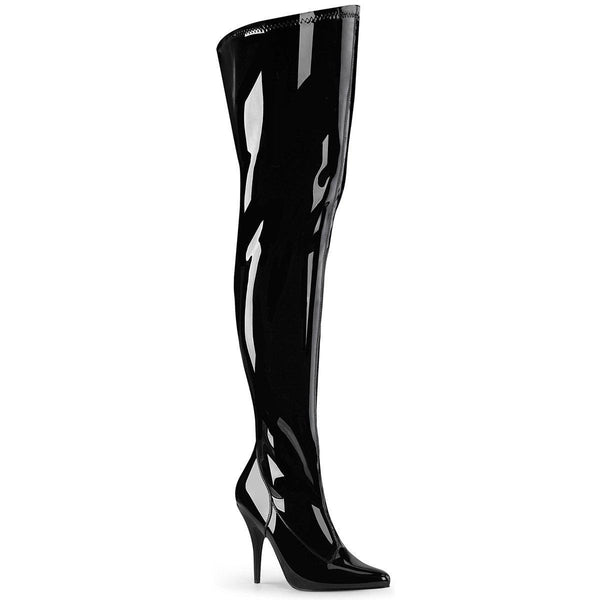 Pleaser Seduce-3000WC, 5-inch Wide Shaft Thigh High Boots - Pleaser Shoes