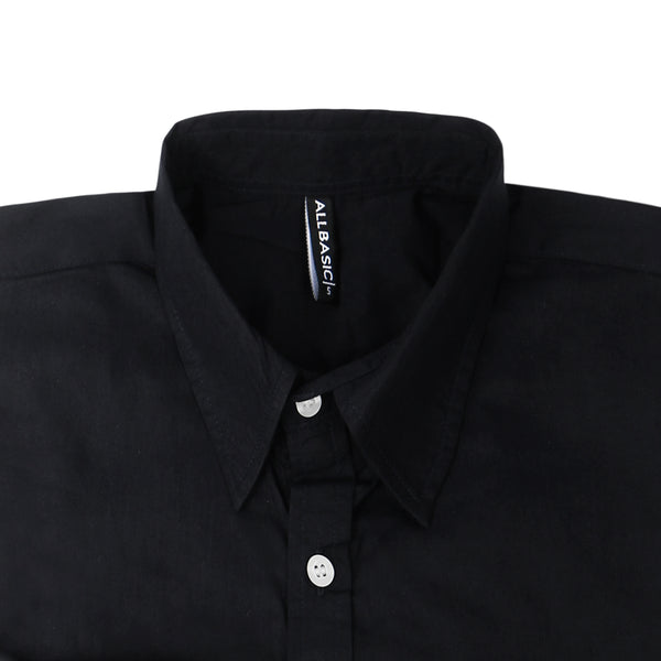 TWILL LONG SLEEVE SHIRT - BLACK