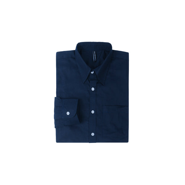 TWILL LONG SLEEVE SHIRT - NAVY