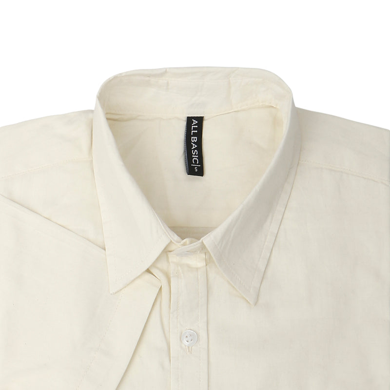TWILL SHORT SLEEVE SHIRT - OFF WHITE