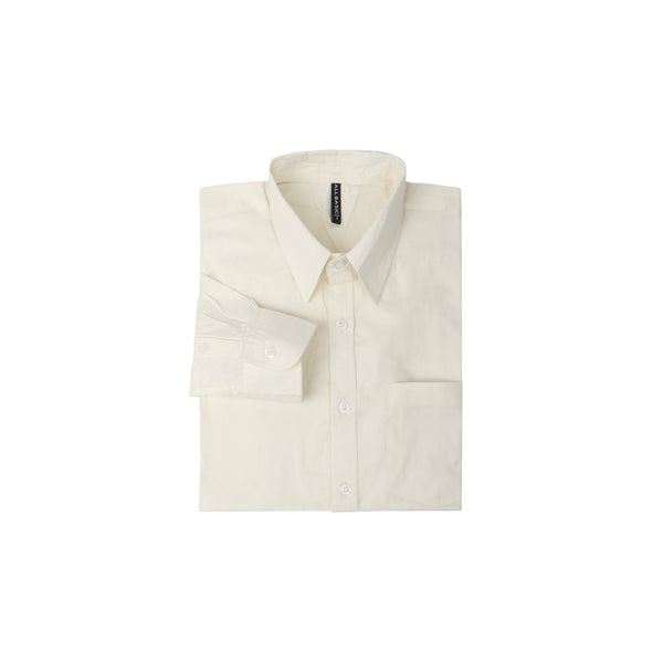 TWILL LONG SLEEVE SHIRT - OFF WHITE