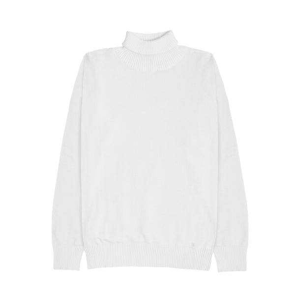 WOMEN KNIT TURTLENECK - WHITE