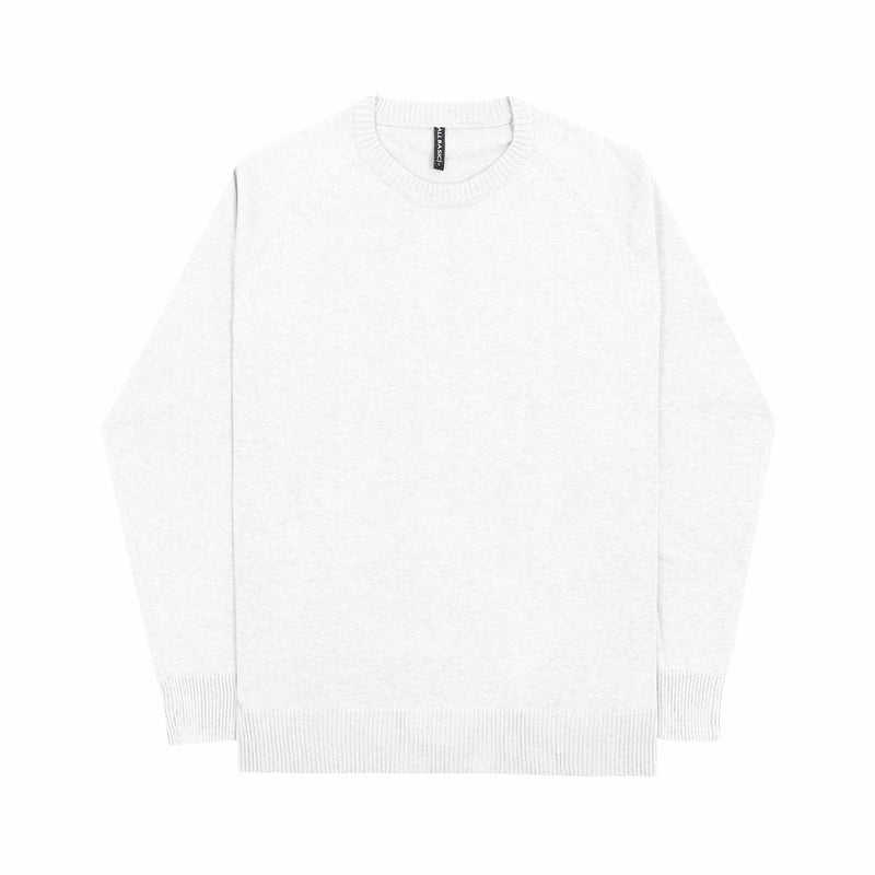 MEN KNIT SWEATER - WHITE