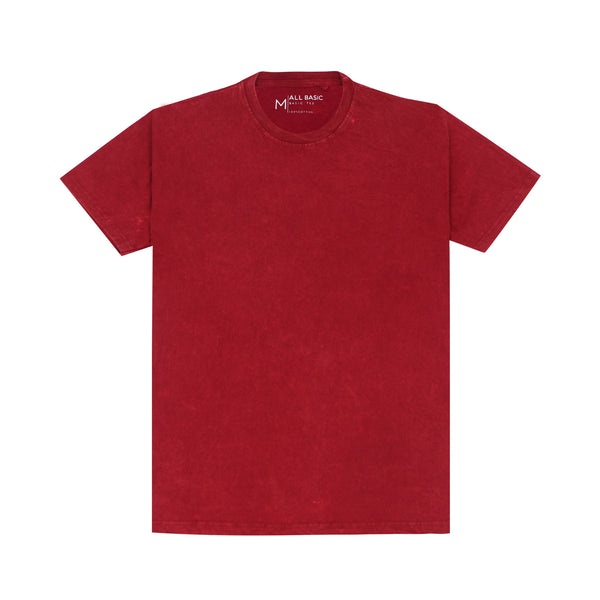 WASHED TEES - MAROON