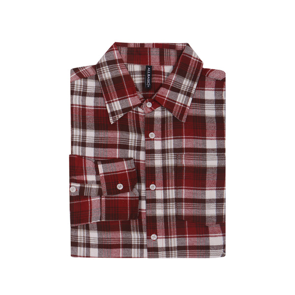 WOMEN FLANNEL SHIRT - BROWN