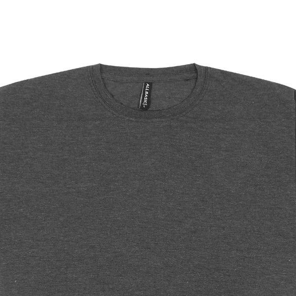 CREWNECK TEES - DARK GREY
