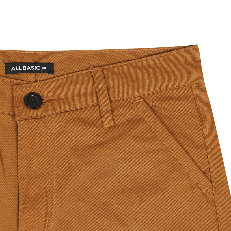 LONG CHINOS PANTS - GOLDEN BROWN