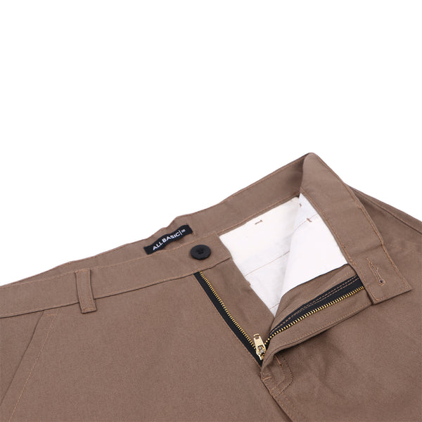 LONG CHINOS PANTS - BROWN