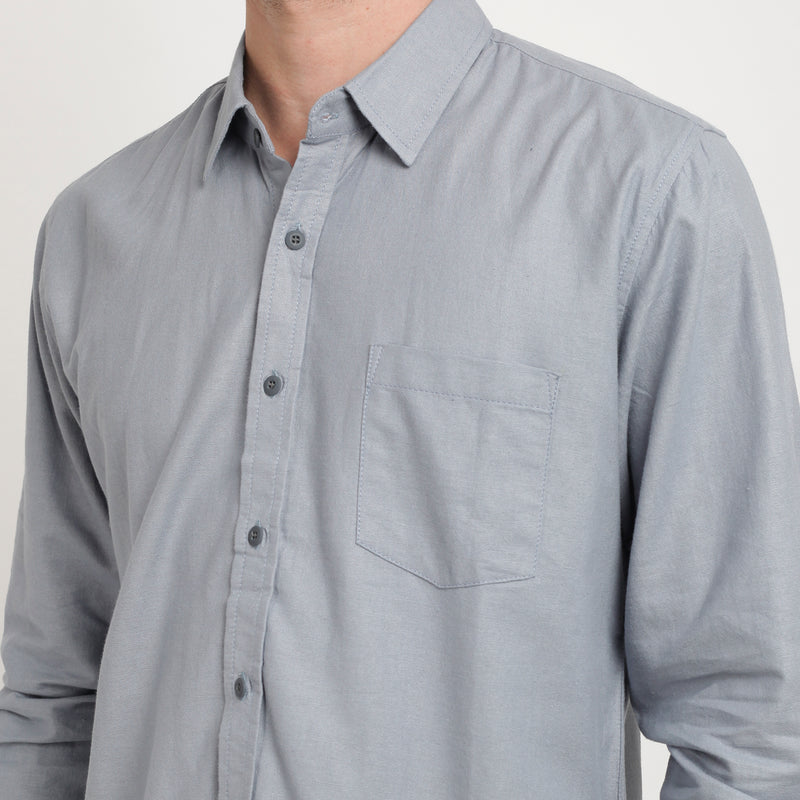 Ramy Long Sleeve Shirt - Khaki
