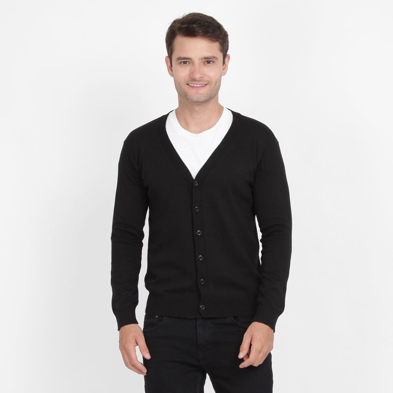Men Classic Knit Cardigan Navy