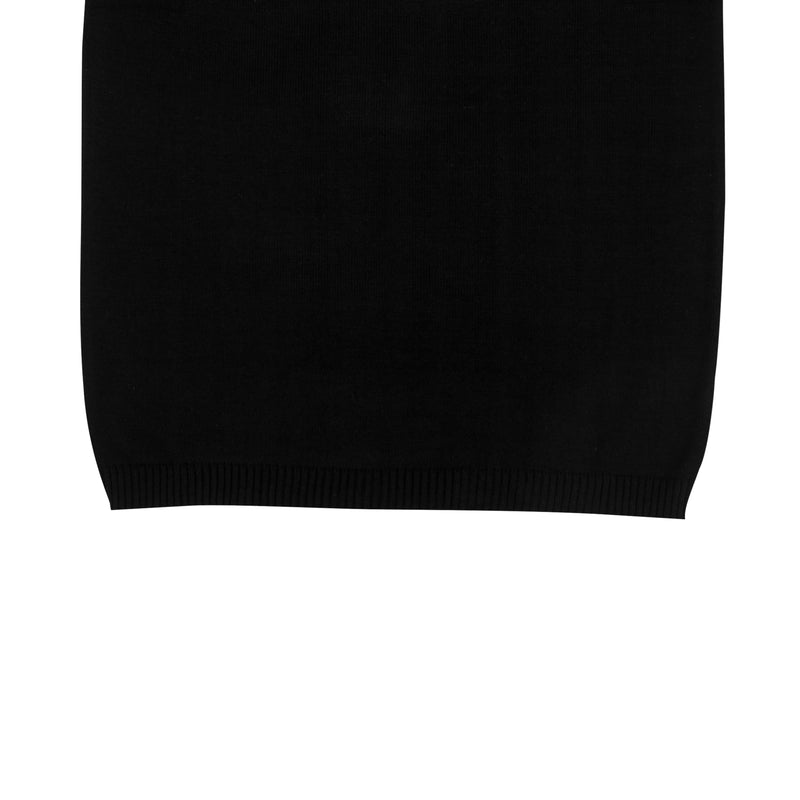 WOMEN KNIT SHORT SLEEVE - BLACK