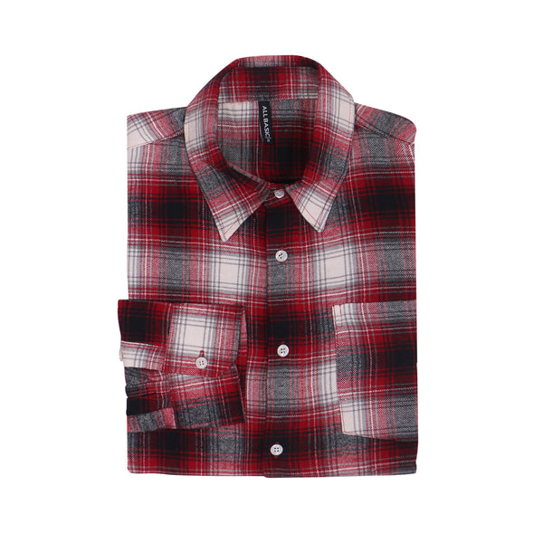 WOMEN FLANNEL SHIRT - RED