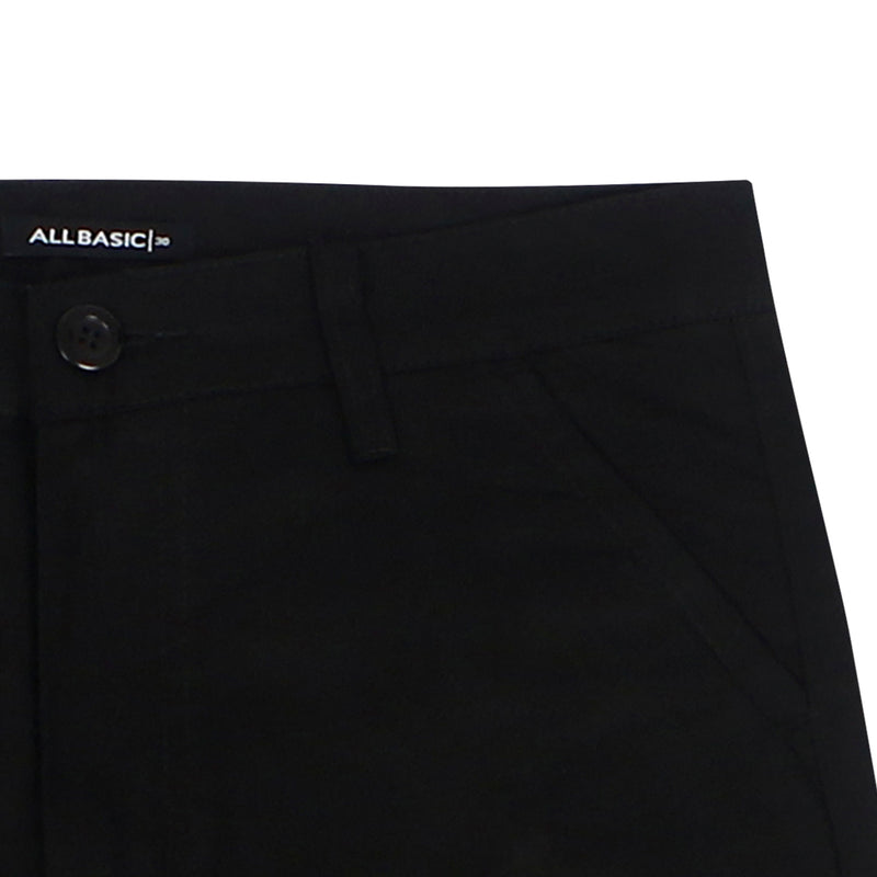 LONG CHINOS PANTS - BLACK