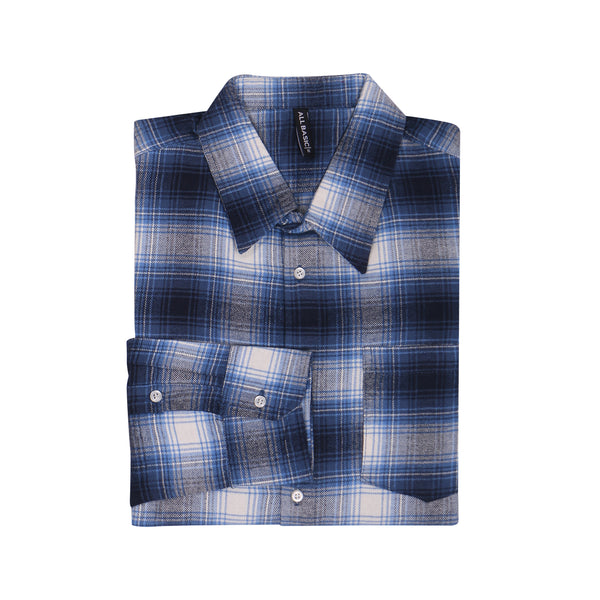 WOMEN FLANNEL SHIRT - BLUE