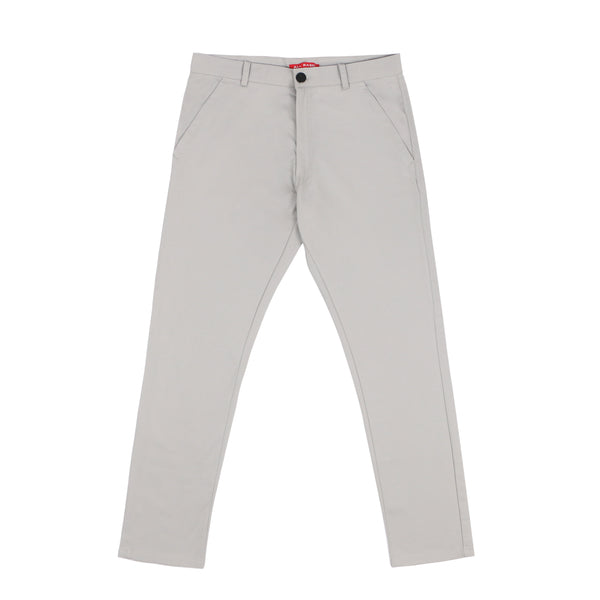 LONG CHINOS PANTS - SILVER