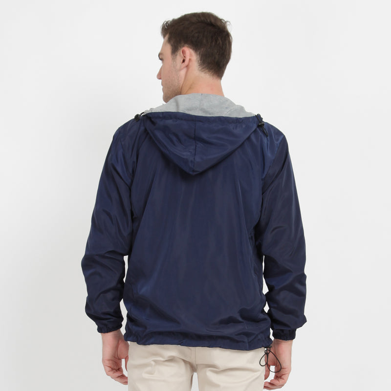 Men Parka Reversible Navy