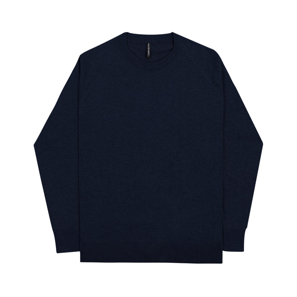 MEN KNIT SWEATER - NAVY