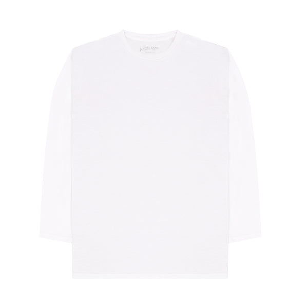 Basic Long Sleeve Tees - White