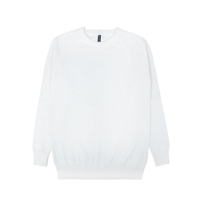 WOMEN KNIT LONG SLEEVE - WHITE