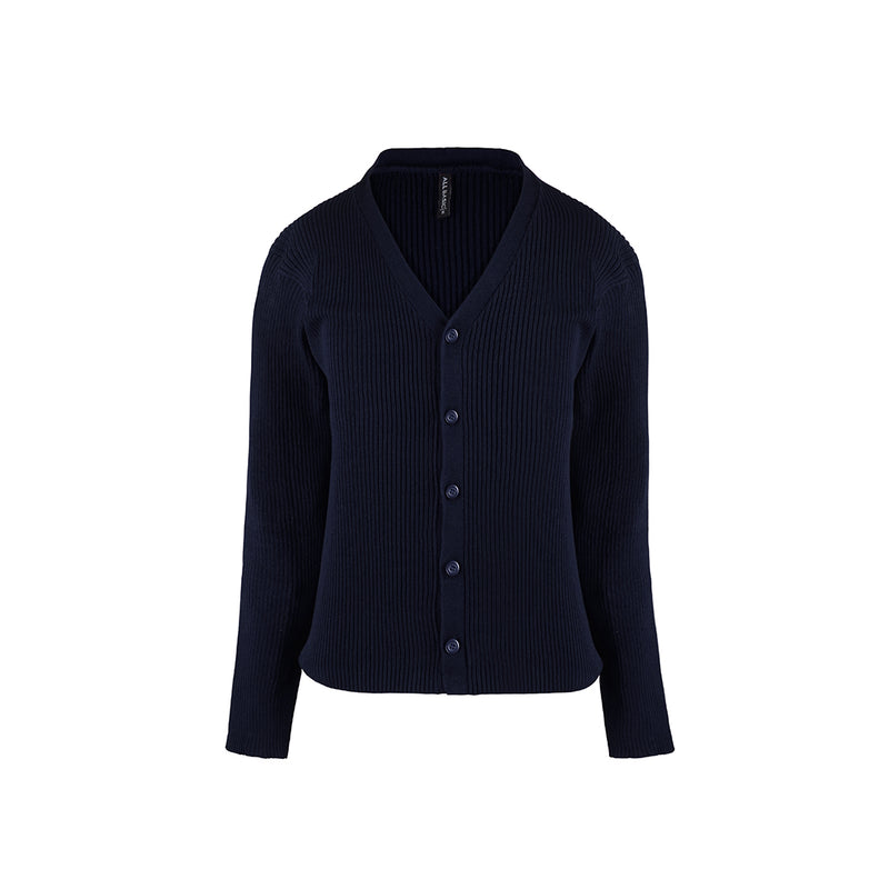 Women Cardigan V Neck Navy