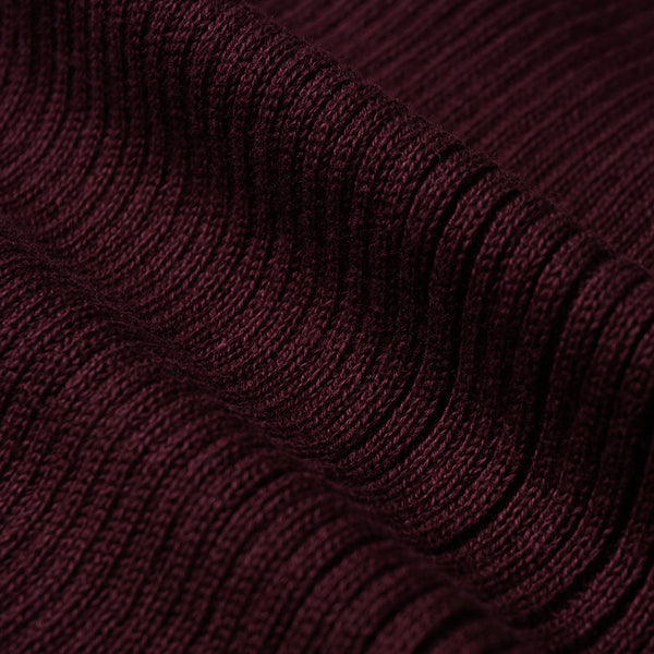 Women Cardigan V Neck Maroon