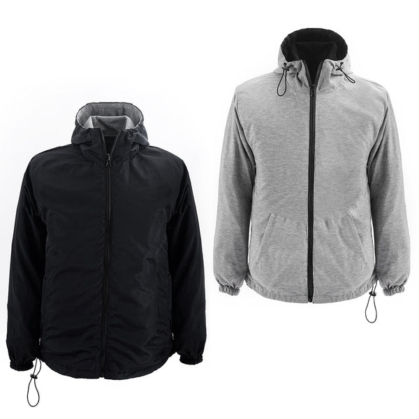 Men Parka Reversible Black