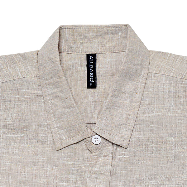 Linen Long Sleeve Shirt - Cream