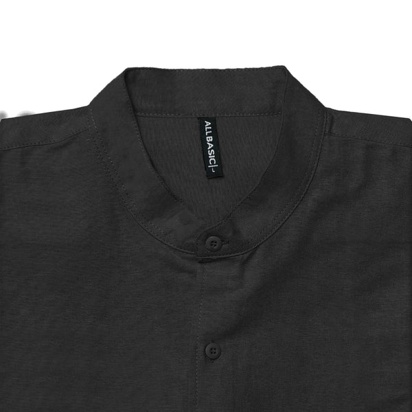 BAND COLLAR - RAMY - LONG SLEEVE SHIRT - BLACK