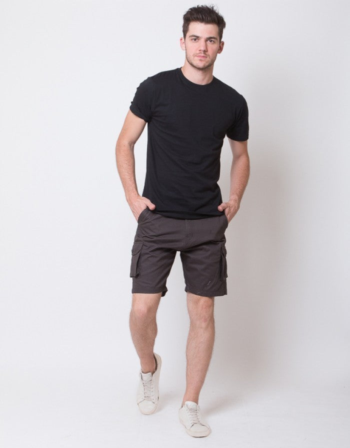 SHORT CARGO PANTS - DARK GREY